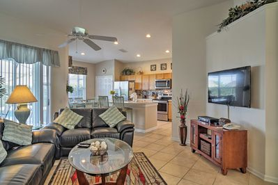 The bright interior offers all the comforts of home.