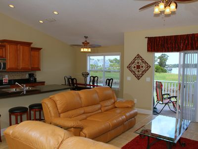 enjoy our open floor plan and recliner couches