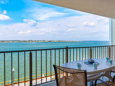 Photo for Direct Bay Front w/Open Bay Views & Sunsets & 3 Blocks to Beach/Boardwalk!