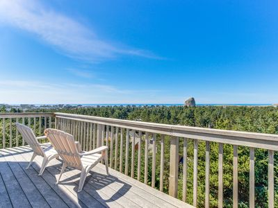 Photo for Spacious home with spectacular views of ocean & Cape Kiwanda!