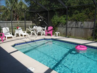 "Photo for Beach house with Private Pool Great Rates ""Golf Cart Rentals Available"""
