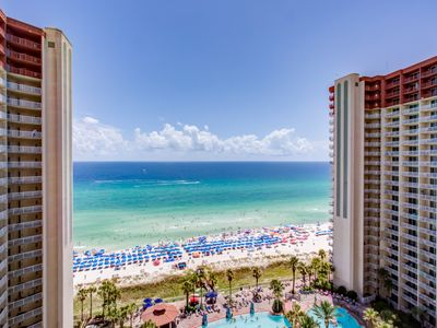 Photo for Unit 1519: Beach Front! 2 BR/3BA W/ Separate Bunk Area! 15th FL (Sleeps 8)