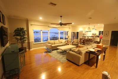 Upstairs 'Great Room', Kitchen, Dining, Family Room, 60' TV, Views for Days.