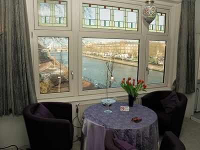 Photo for Apartment with a View! Next to a canal in Rotterdam!