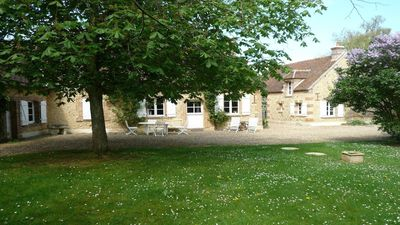 Photo for In the heart of the Perche, three farmhouse quiet, perfectly renovated ..