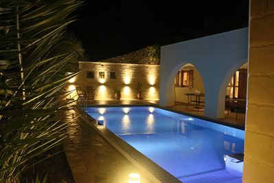 Pool and reflections by night
