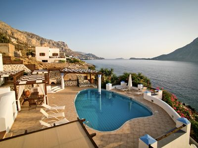 Photo for Luxury Waterfront Vacation Villa in Kalymnos, Greece with Private Pool