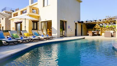 Photo for Villa Camelot- Stone Built Luxury Villa With Walk In Pool, 5 mins walk from the Beach