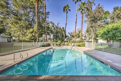 Cathedral Canyon Country Club amenities include a community pool and hot tub!