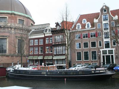 Photo for Historic luxureous houseboat in the center of Amsterdam