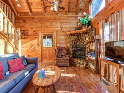 Photo for NEW LISTING! Family-friendly cabin w/private hot tub, gas fireplace & pool table