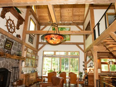 Photo for New timber frame home with open floor plan on 2.5 acres just 6 mi. from Saratoga