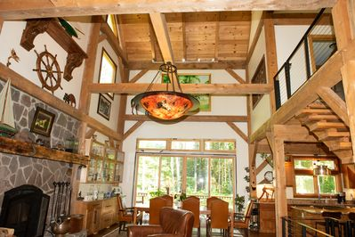 New timber frame home with open floor plan on 2 5 acres just 6 mi  from  Saratoga - Middle Grove
