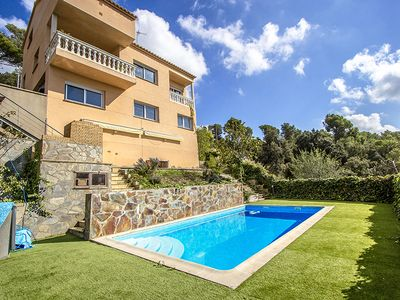 Photo for Catalunya Casas: Hillside villa in Sant Feliu with mountain views, 35km from Barcelona!