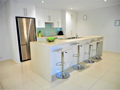 Kitchen - Island with 4 Stools.