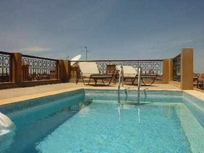 Photo for Luxury apartment center gueliz with pool
