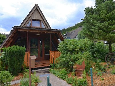Photo for Idyllically situated A-frame house in the Sauerland with garden and covered terrace