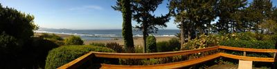 The stunning panoramic view from the deck of this beautiful home.