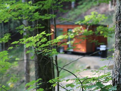 """Photo for """"Little Red"""" Adorable+Romantic Tiny Home w/FirePit"""
