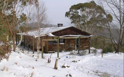 Photo for Rustic Log Cabin on 100 acres in the heart of the Snowy Mountains