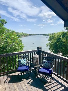 Photo for BEST RATES! WATERFRONT & AMAZING VIEW! HOT TUB, FIRE PIT, KAYAKS, & GAME ROOM.