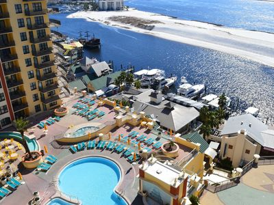 Photo for Emerald Grande 10th Flr🌞⛵ 🌞Perfect View of the Gulf, Harbor, & Pool😎