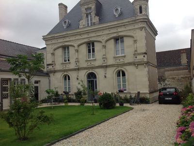 Photo for LOIRE VALLEY BEAUTIFUL MANSION WITH GARDEN AND BETWEEN ANGERS SAUMUR