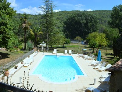 Photo for Villa with a pool and tennis court in a private countryside estate
