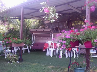 Photo for Apart. with flower garden and open views of the Gulf of St Florent and Nebiu