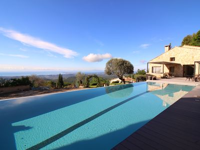 Photo for VILLA 11 BEDS - HEATED SWIMMING POOL - SEA VIEW