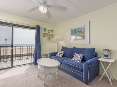 Located on the boardwalk and oceanfront, great vacation rental!