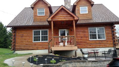 Photo for Beautiful, Cozy Log Home On The Hill Overlooking The Town