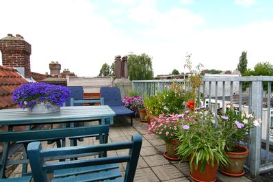 Sunny roof terrace, it's private, for Linnaeussuite guests only