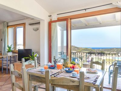 Photo for Panorama Apartm,5min from the beach, pool wifi air-co BBQ  garden Costa Smeralda