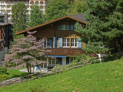 Photo for This 4-bedroom villa for up to 10 guests is located in Wengen and has a private swimming pool and Wi