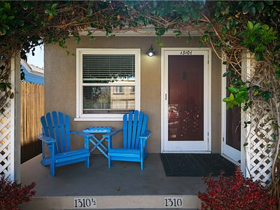 Photo for Cozy Beach Bungalow steps to the sand & 4 blocks to Pier & Main St.