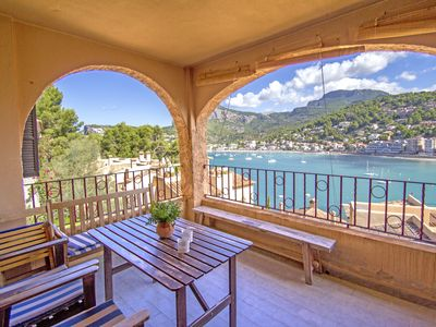 Photo for Charming beach apartment in Port de Soller. Swimming pool.