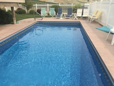 Brand new beautiful pool liner and auto cover