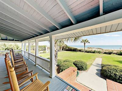 Porch - Sip sweet tea with stunning ocean views from your wraparound porch.