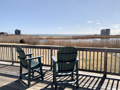 Photo for Beach House with large deck & ocean views!