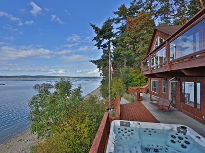 Photo for Waterfront Coupeville home with beautiful Penn Cove view (243)