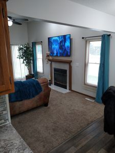 enjoy the 65in smart TV in the living room