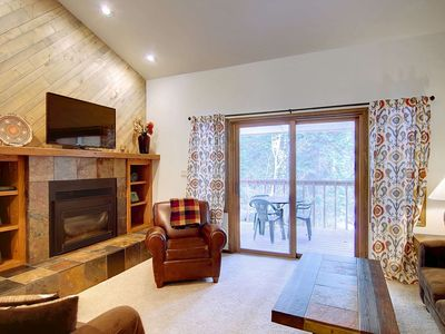 Photo for Just Listed Sale! Secluded Complex in the Woods, Deck Overlooks Creek, Near Bike/Hike, Grill, Sauna