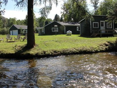 Photo for The Green Cabins  are located on the West branch of the Sturgeon River