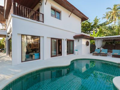 Photo for Baan Fah Sai Private 4 bed Pool Villa, Steps From the Beach