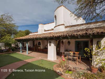 Fabulous Spanish hacienda in convenient downtown location.