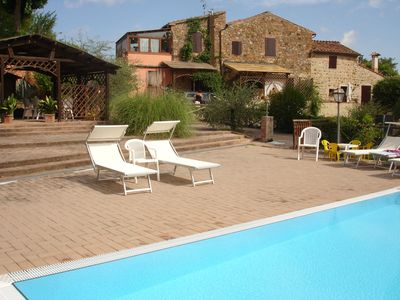 Photo for Lovely apartment for 6 guests with pool, WIFI, TV, patio, panoramic view and parking