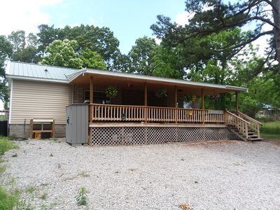 Photo for Private/NICE Large Cabin on 3/4 Acre.  Huge Covered Porch. Wheelchair Access