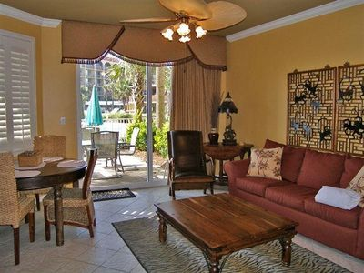 Photo for 2/2+Bunk/ Beach serv. incl./ 1st. Floor, Gulf Side/ Pool Front/ Private Patio/A+