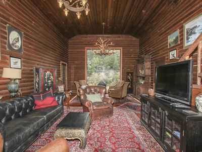 Photo for Historic Riverfront Log Cabin W/ Private 8 Acre Beach, Views, Kayaks, Fireplaces